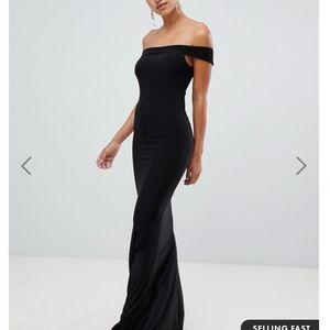NEW - ASOS Club L Fishtail Maxi Black Dress Size 2